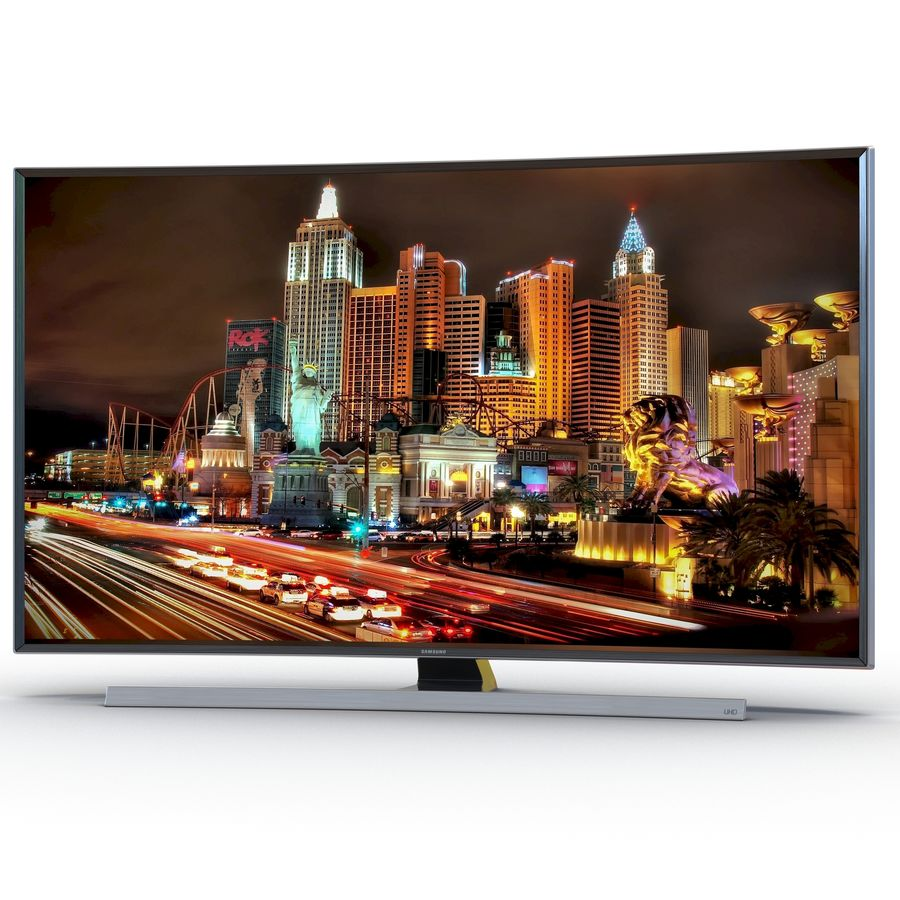 Samsung 4K UHD JU7500 Series Curved Smart TV 65 Inch royalty-free 3d model - Preview no. 2