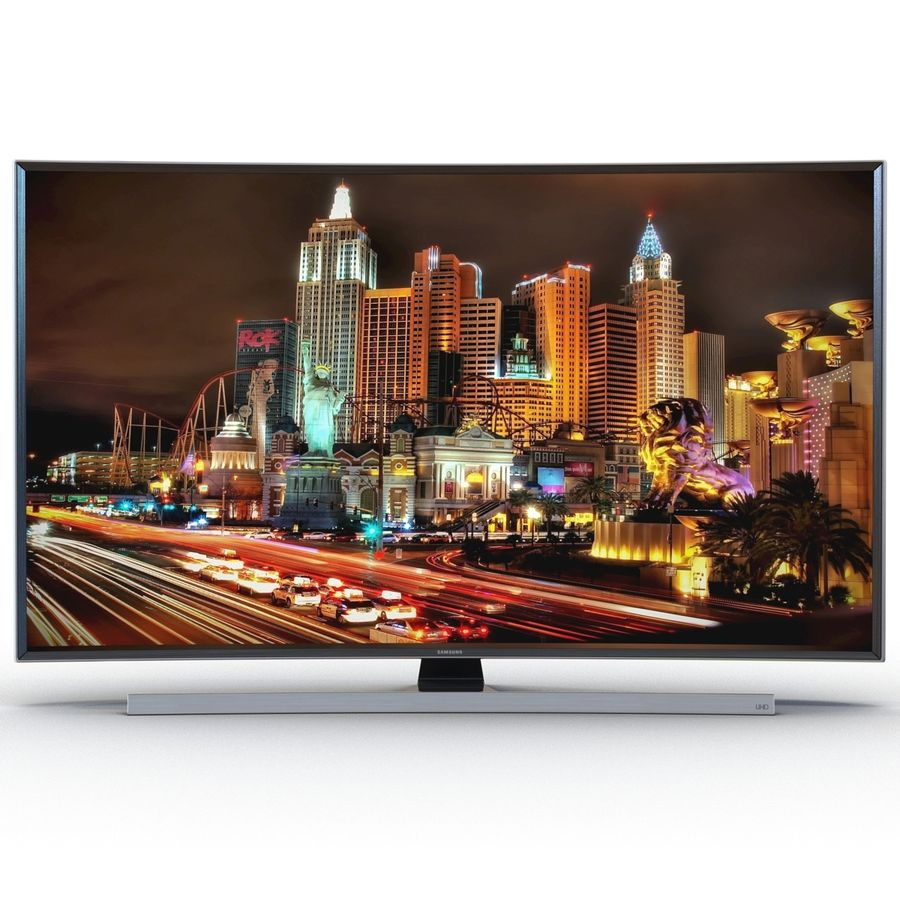 Samsung 4K UHD JU7500 Series Curved Smart TV 65 Inch royalty-free 3d model - Preview no. 4