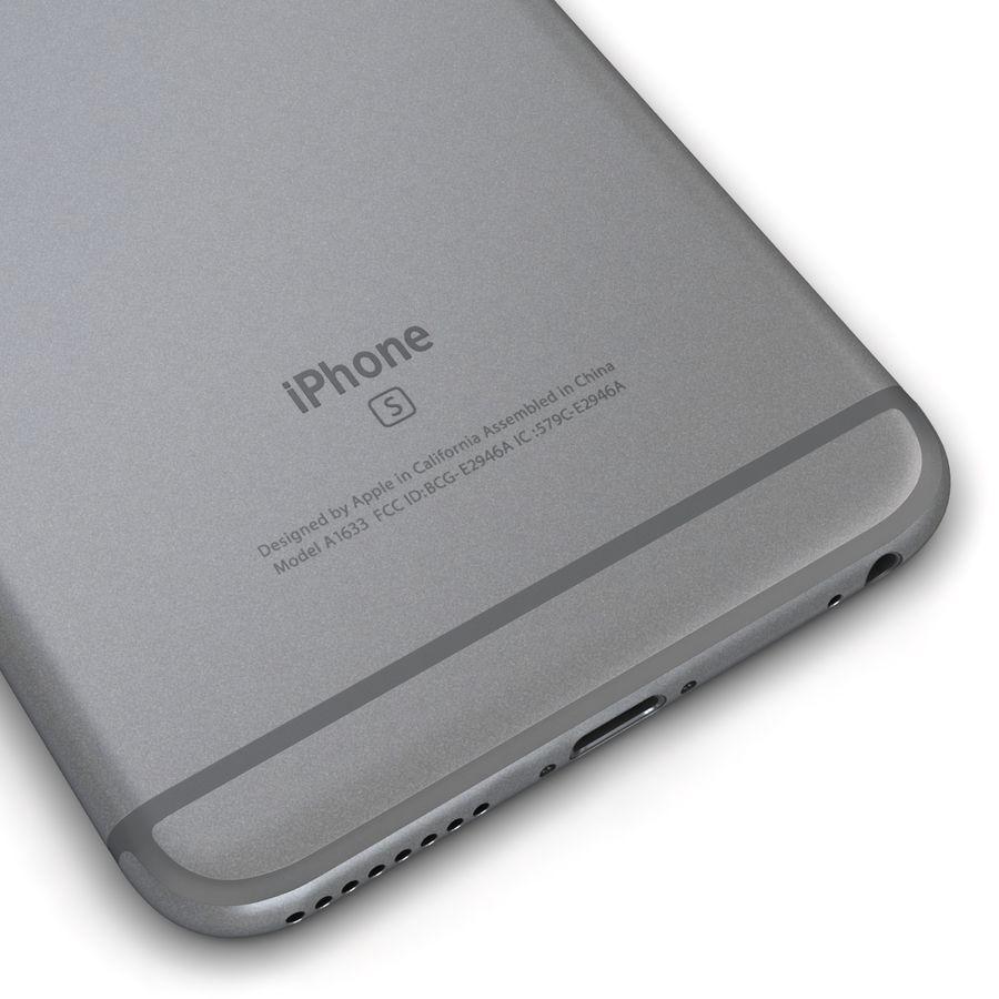 Apple iPhone 6s Plus Cinza Espaço royalty-free 3d model - Preview no. 13