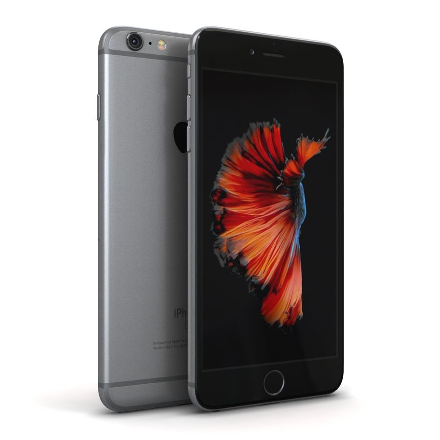 Apple iPhone 6s Plus Cinza Espaço royalty-free 3d model - Preview no. 2