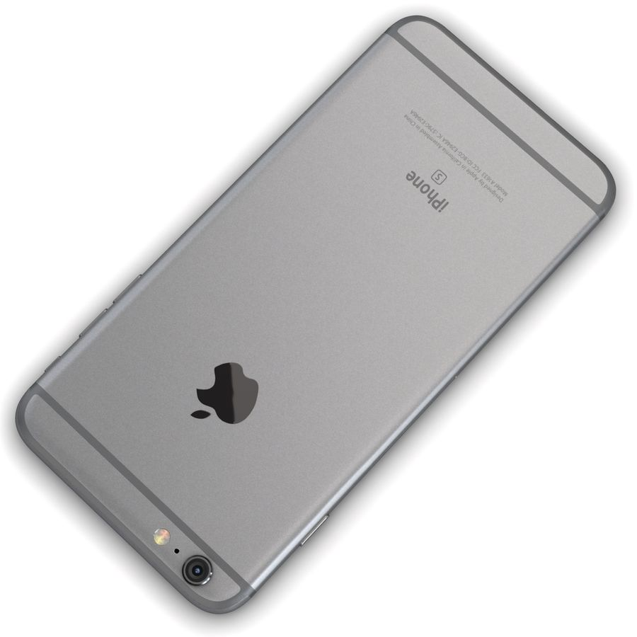 Apple iPhone 6s Plus Cinza Espaço royalty-free 3d model - Preview no. 12