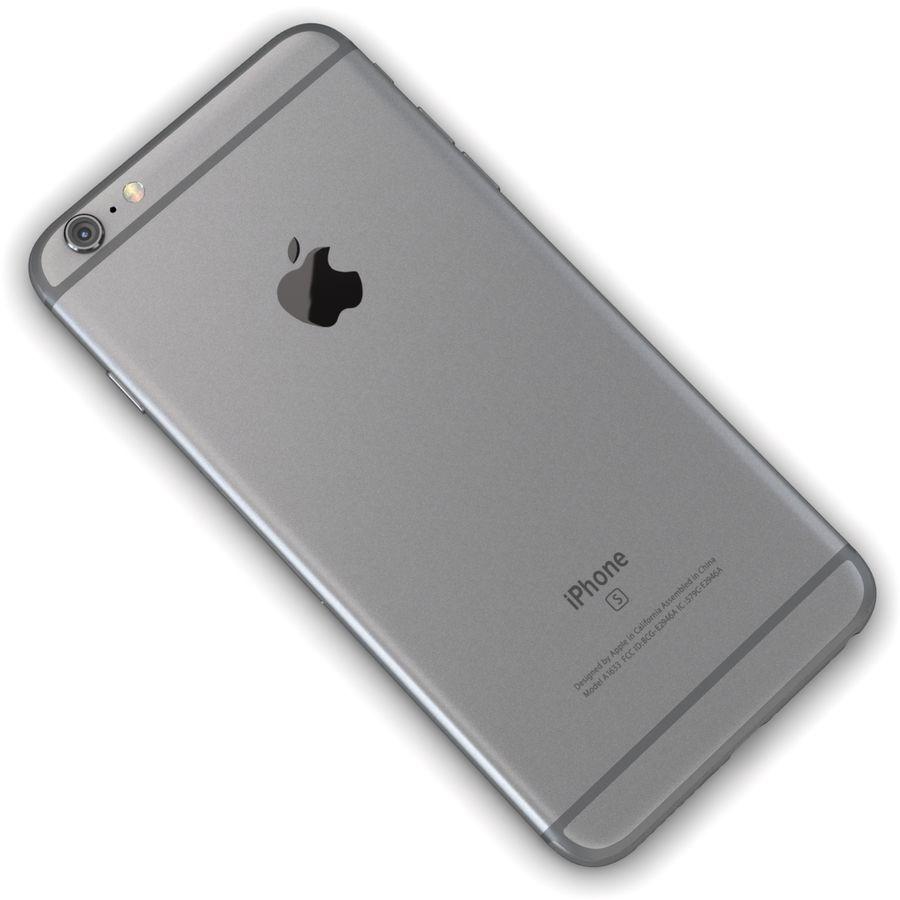 Apple iPhone 6s Plus Cinza Espaço royalty-free 3d model - Preview no. 11