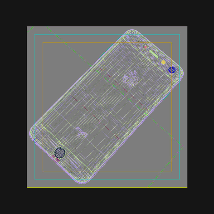 Apple iPhone 6s Plus Cinza Espaço royalty-free 3d model - Preview no. 44