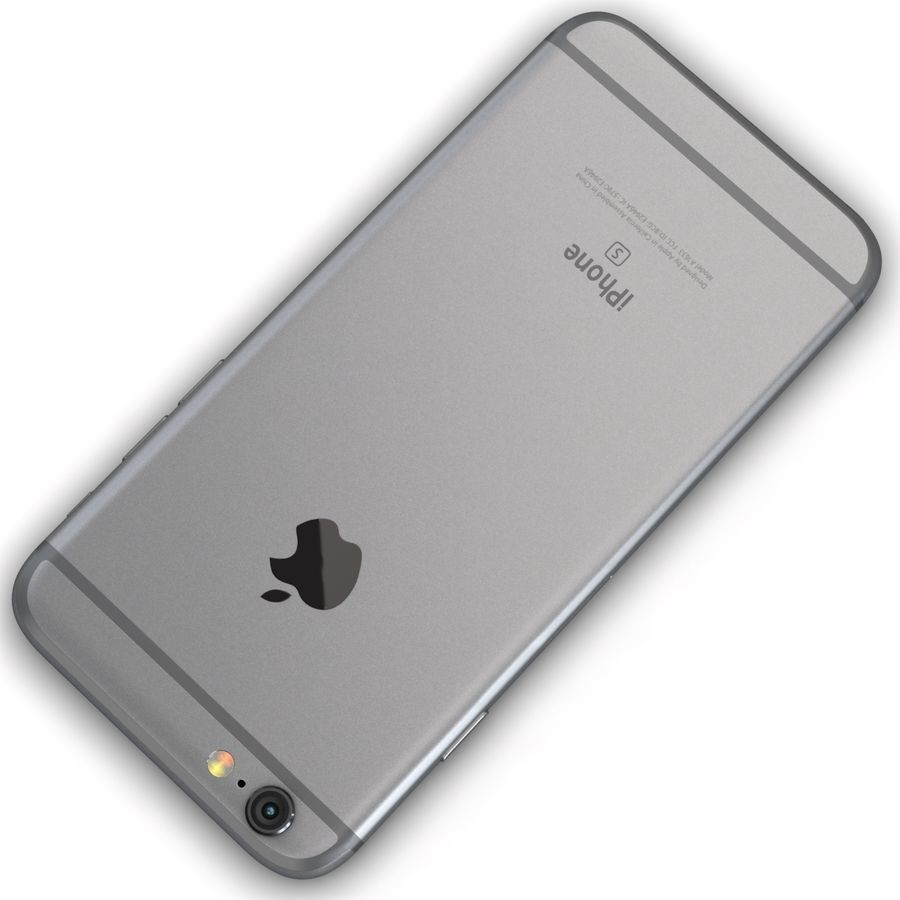 Apple iPhone 6s Space Grey royalty-free 3d model - Preview no. 12