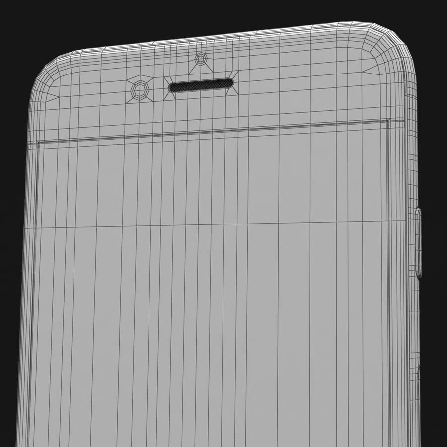 Apple iPhone 6s Space Grey royalty-free 3d model - Preview no. 43