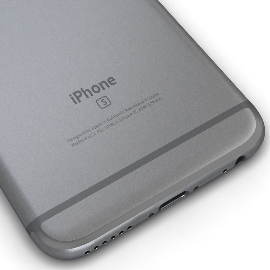 Apple iPhone 6s Space Grey royalty-free 3d model - Preview no. 13