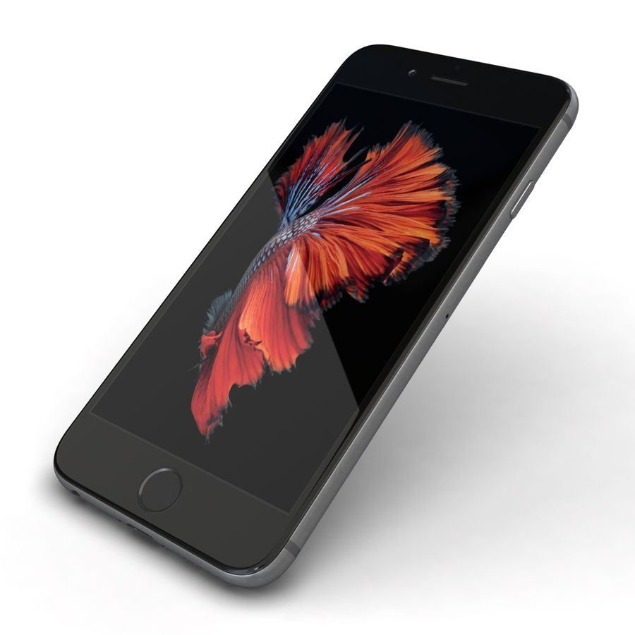 Apple iPhone 6s Space Grey royalty-free 3d model - Preview no. 22