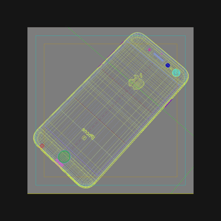 Apple iPhone 6s Space Grey royalty-free 3d model - Preview no. 44