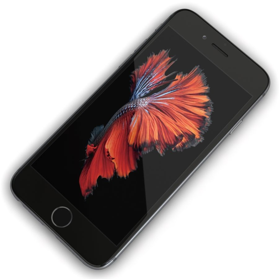 Apple iPhone 6s Space Grey royalty-free 3d model - Preview no. 7