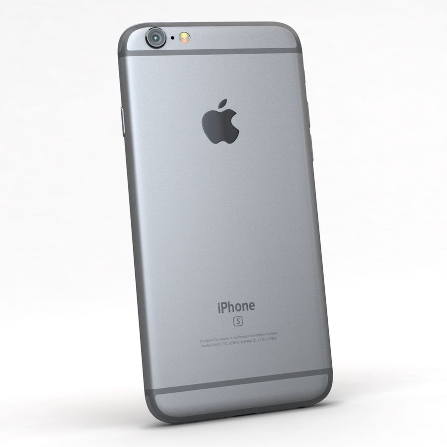 Apple iPhone 6s Space Grey royalty-free 3d model - Preview no. 6