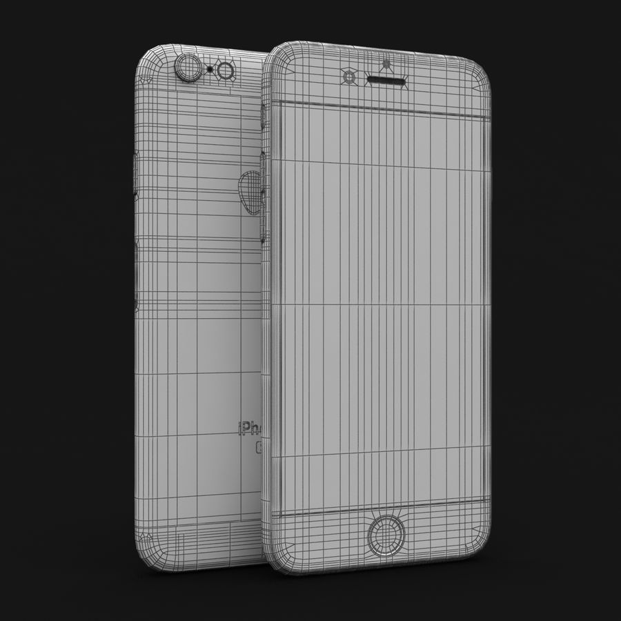 Apple iPhone 6s Space Grey royalty-free 3d model - Preview no. 29