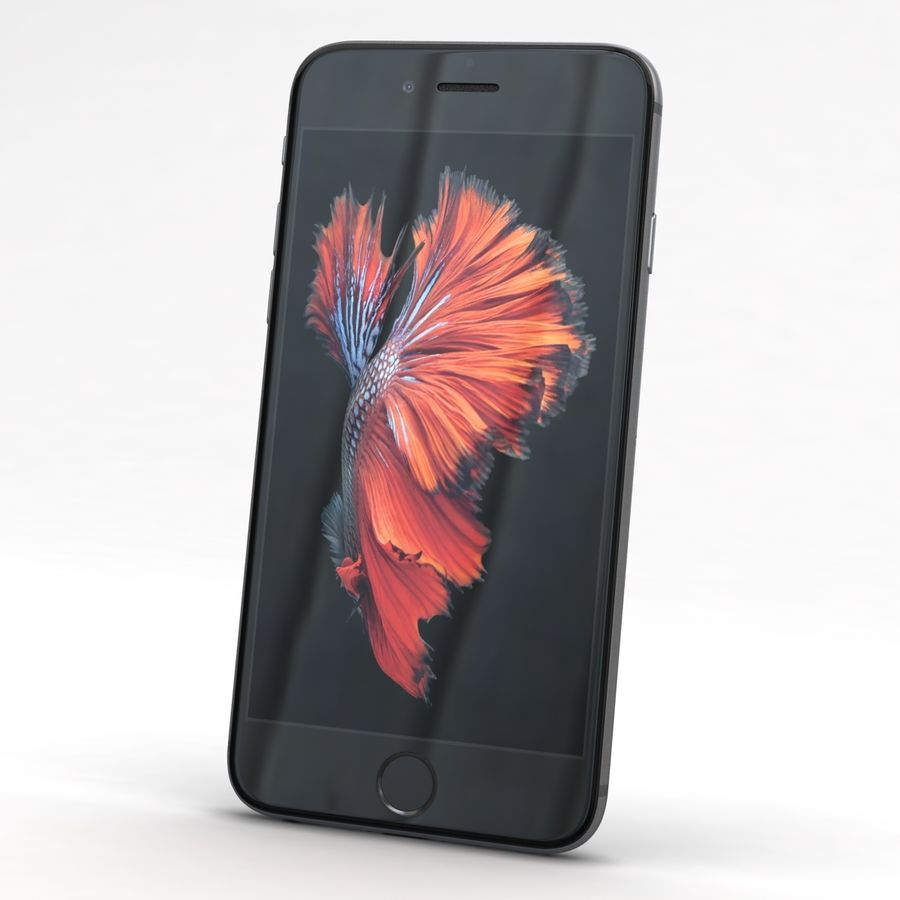 Apple iPhone 6s Space Grey royalty-free 3d model - Preview no. 3