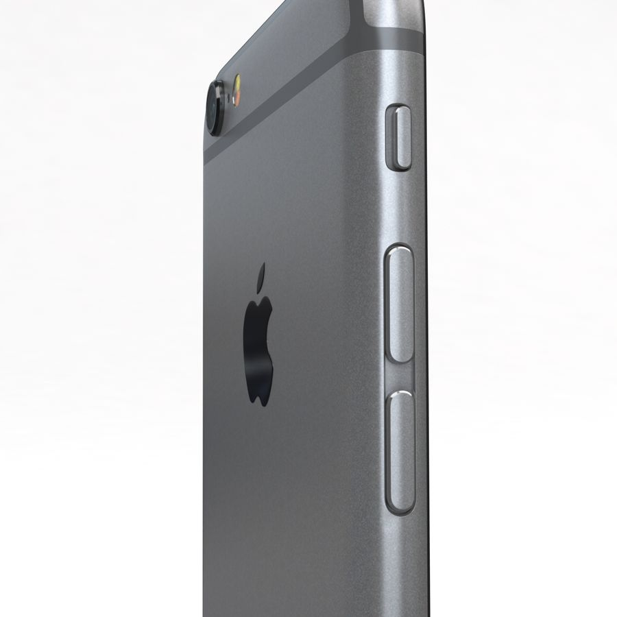 Apple iPhone 6s Space Grey royalty-free 3d model - Preview no. 19