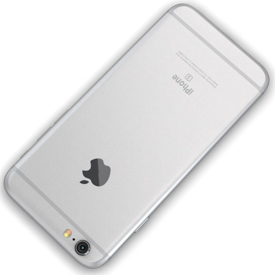Apple iPhone 6s Prateado royalty-free 3d model - Preview no. 12