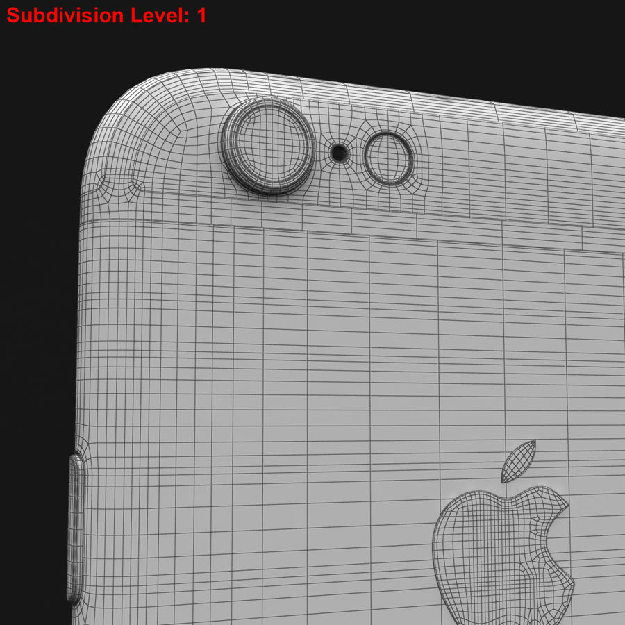 Apple iPhone 6s Prateado royalty-free 3d model - Preview no. 36