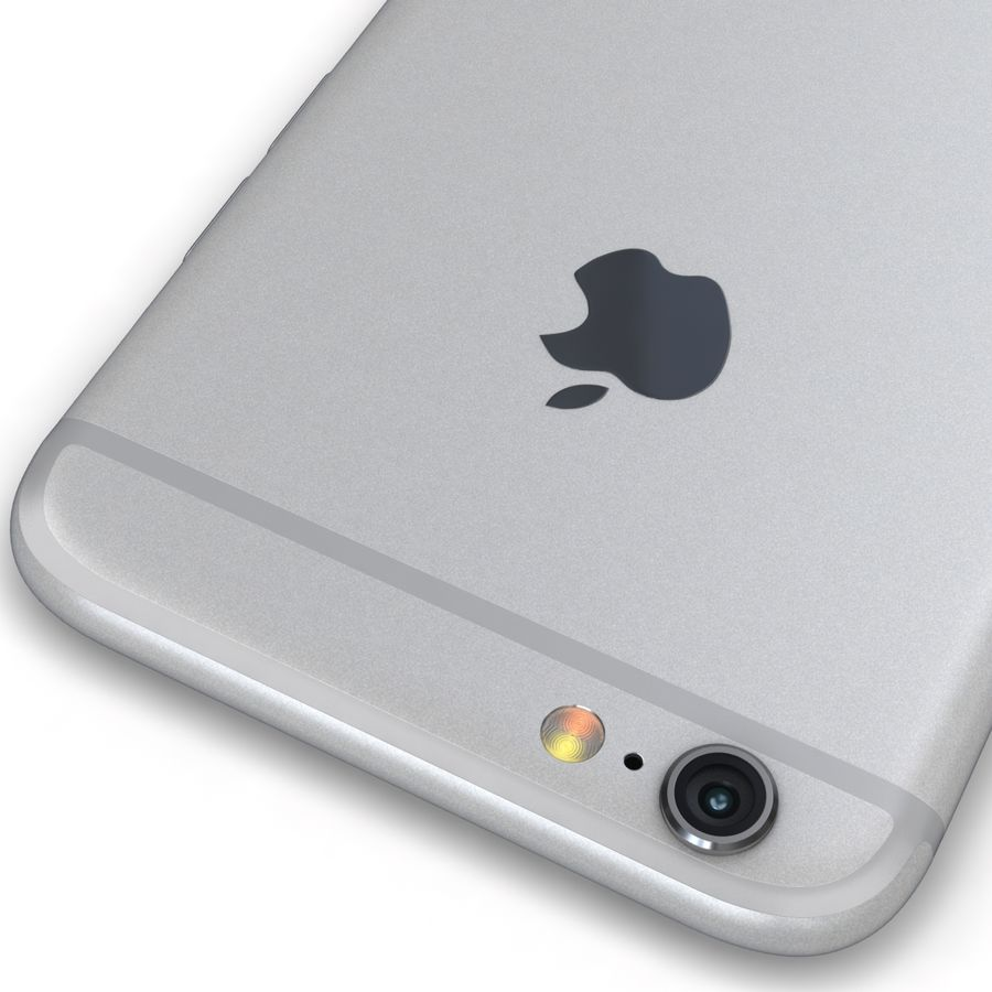 Apple iPhone 6s Prateado royalty-free 3d model - Preview no. 14