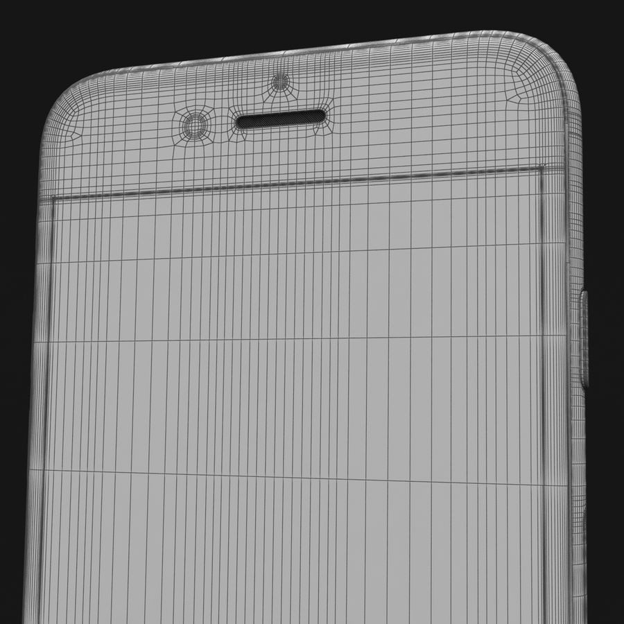 Apple iPhone 6s Prateado royalty-free 3d model - Preview no. 42