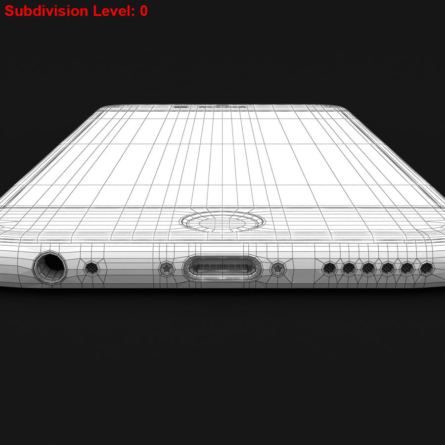 Apple iPhone 6s Prateado royalty-free 3d model - Preview no. 31
