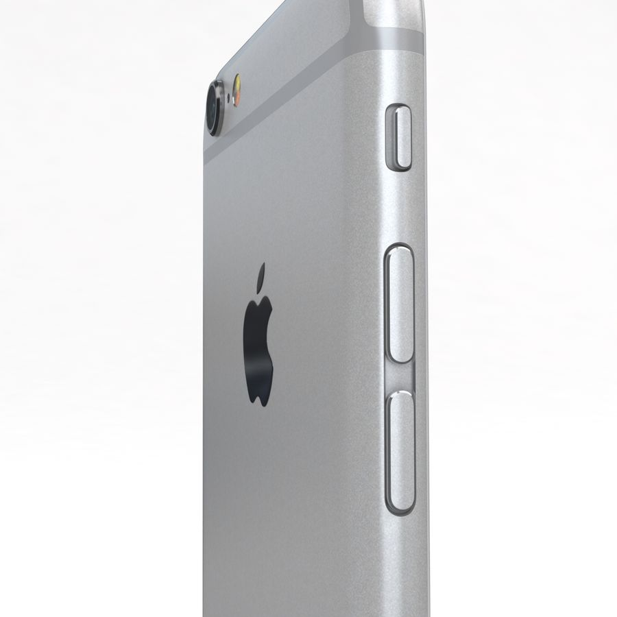 Apple iPhone 6s Prateado royalty-free 3d model - Preview no. 19