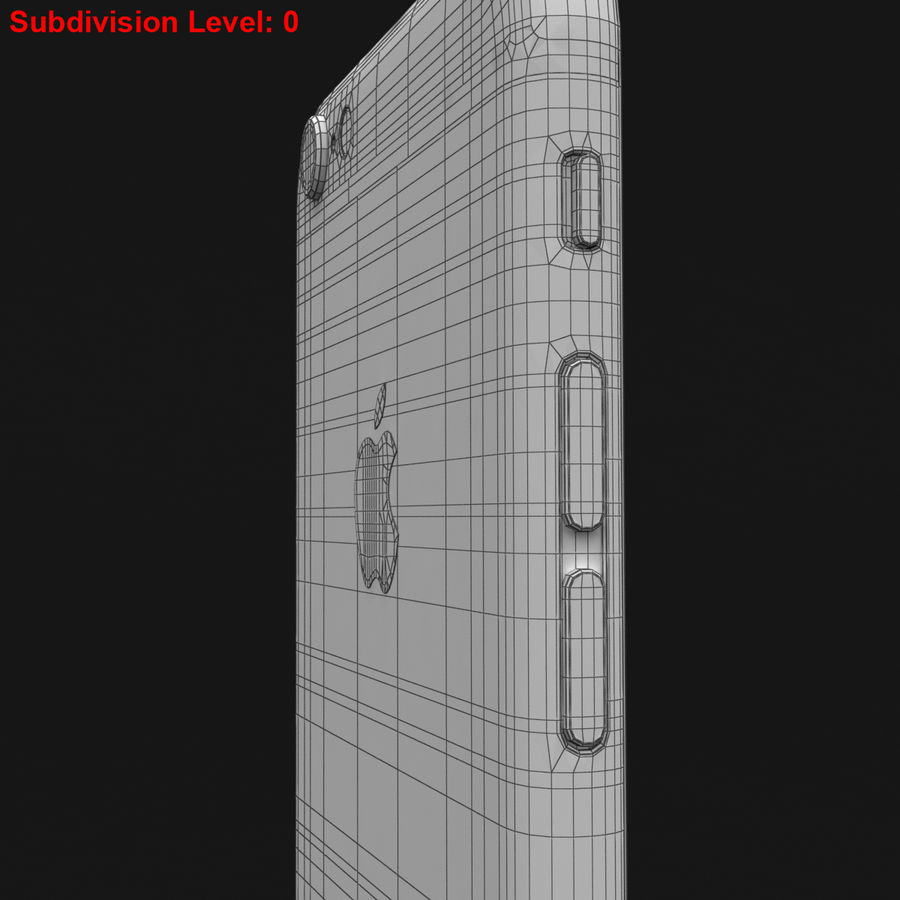 Apple iPhone 6s Prateado royalty-free 3d model - Preview no. 35