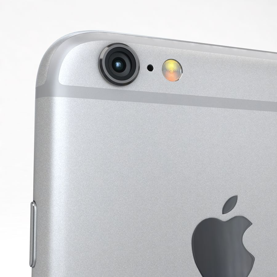 Apple iPhone 6s Prateado royalty-free 3d model - Preview no. 20
