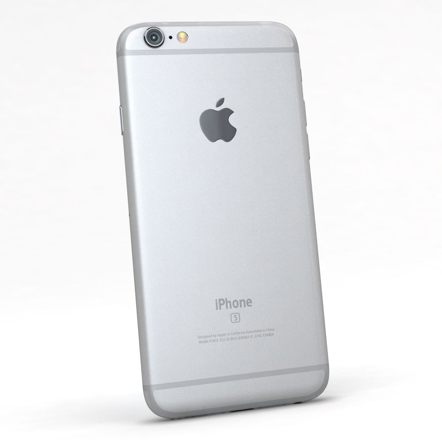 Apple iPhone 6s Prateado royalty-free 3d model - Preview no. 6