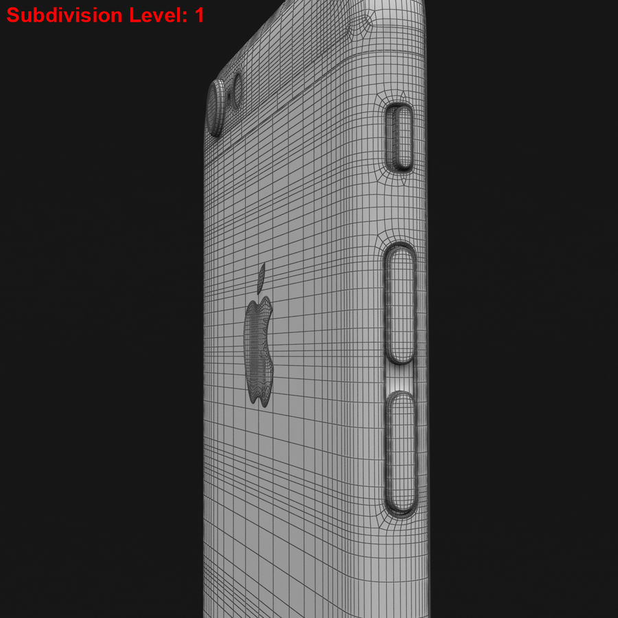 Apple iPhone 6s Prateado royalty-free 3d model - Preview no. 34