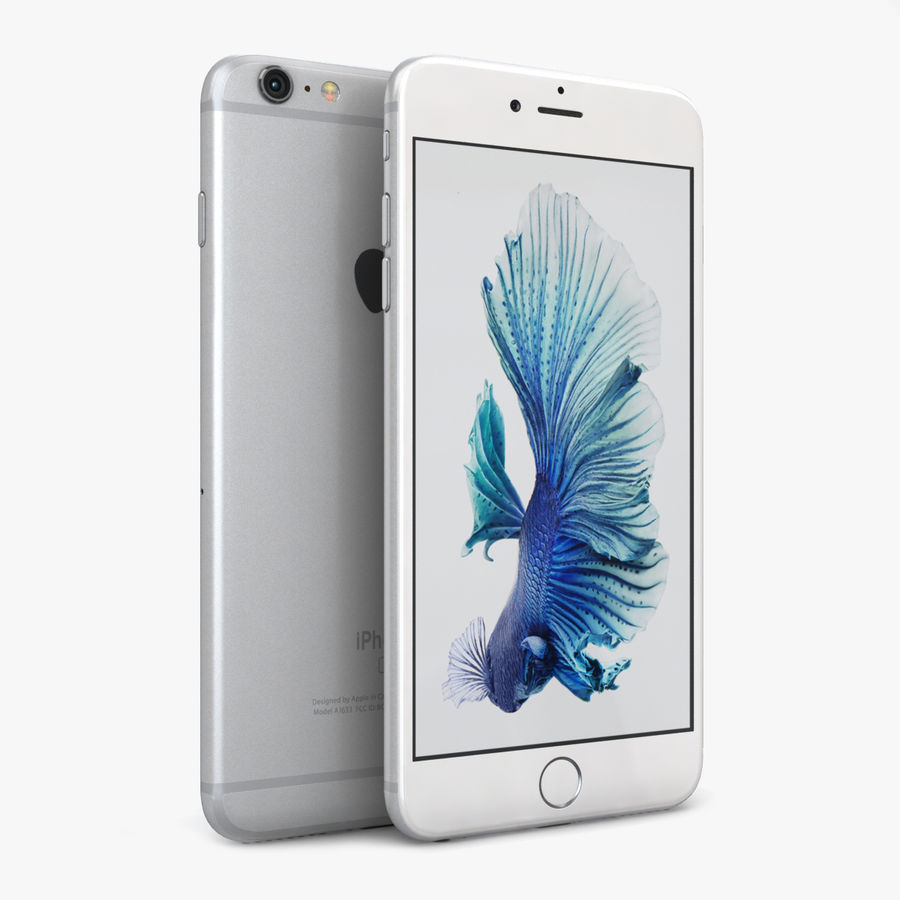 Apple iPhone 6s Plus Prateado royalty-free 3d model - Preview no. 1