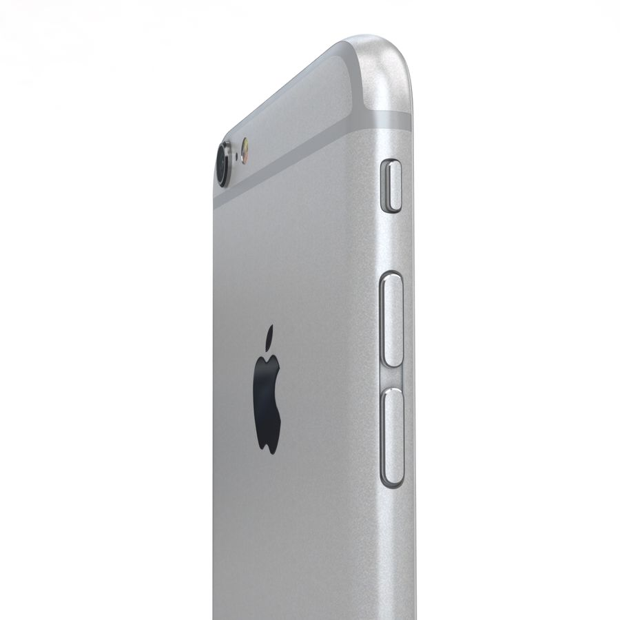 Apple iPhone 6s Plus Prateado royalty-free 3d model - Preview no. 19