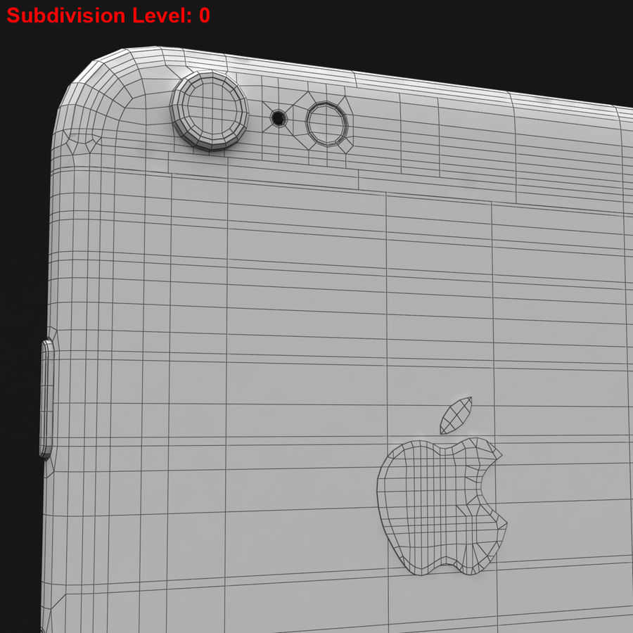 Apple iPhone 6s Plus Prateado royalty-free 3d model - Preview no. 37