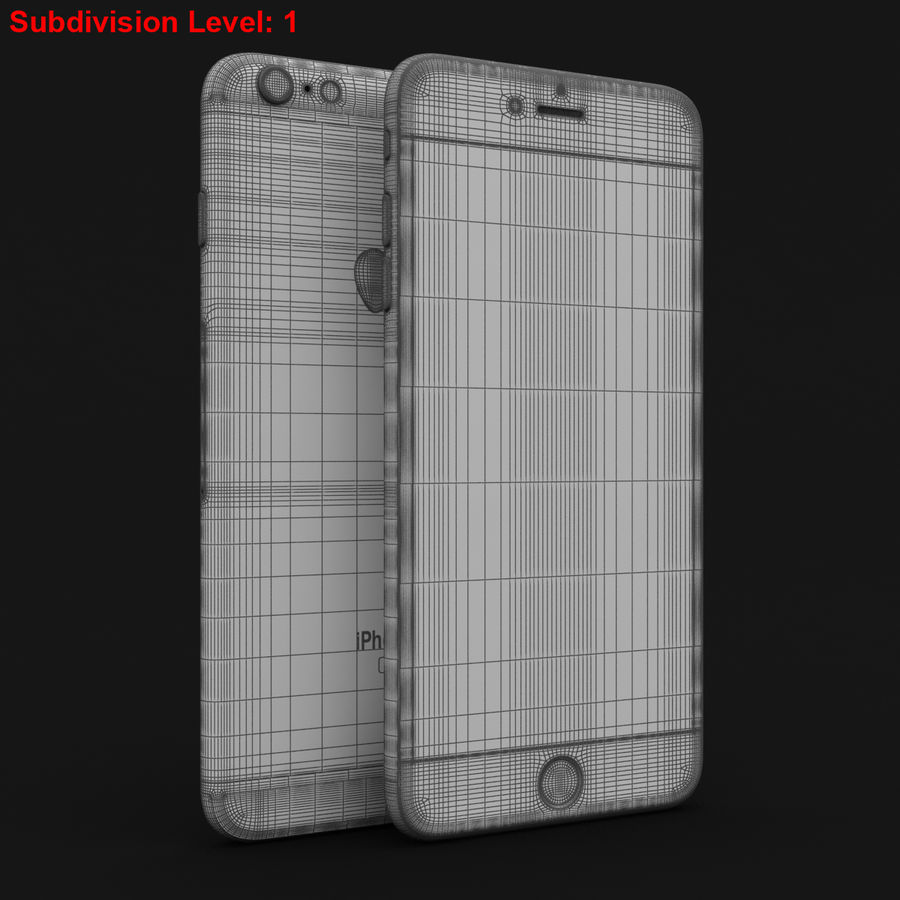 Apple iPhone 6s Plus Prateado royalty-free 3d model - Preview no. 28