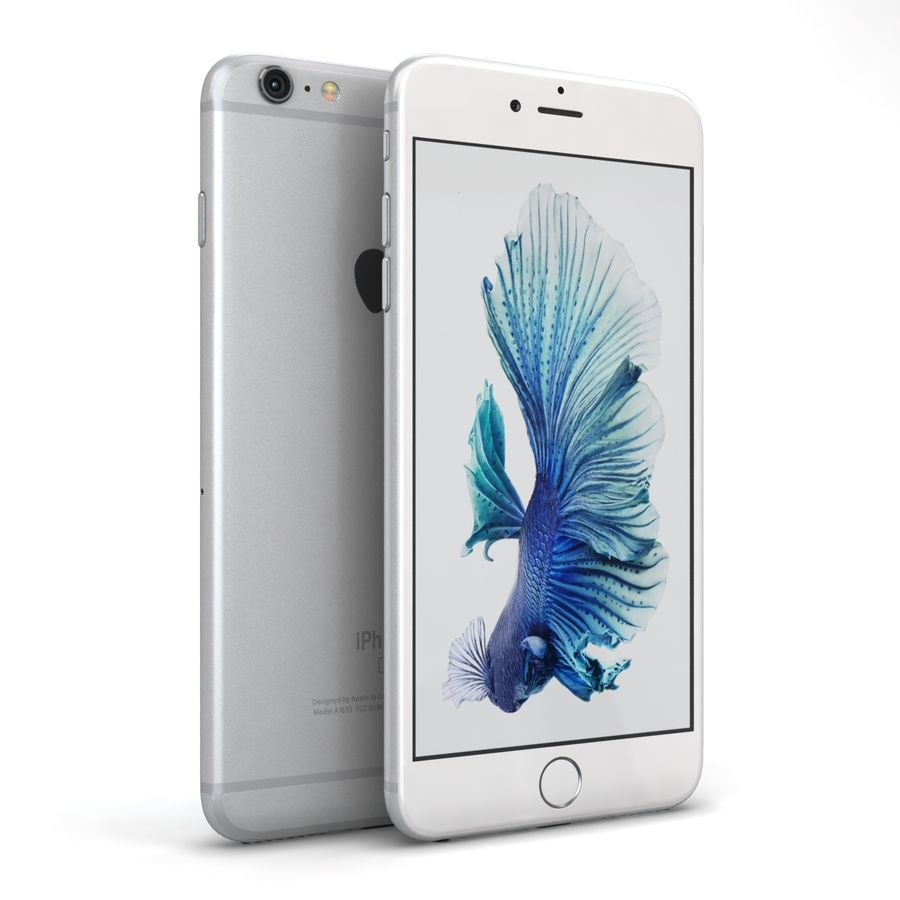 Apple iPhone 6s Plus Prateado royalty-free 3d model - Preview no. 2