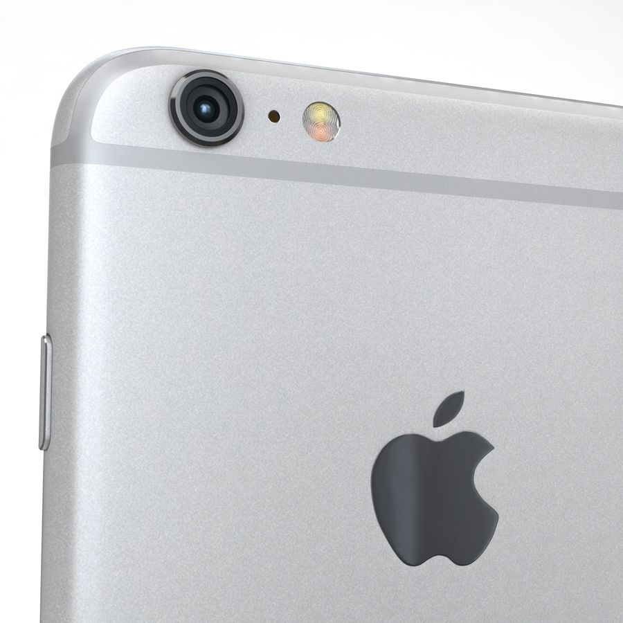 Apple iPhone 6s Plus Prateado royalty-free 3d model - Preview no. 20