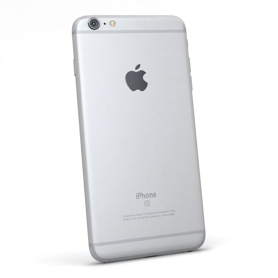 Apple iPhone 6s Plus Prateado royalty-free 3d model - Preview no. 6