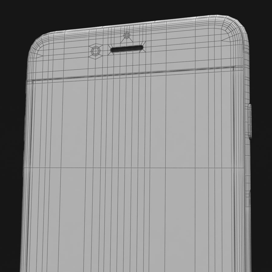 Apple iPhone 6s Plus Prateado royalty-free 3d model - Preview no. 43
