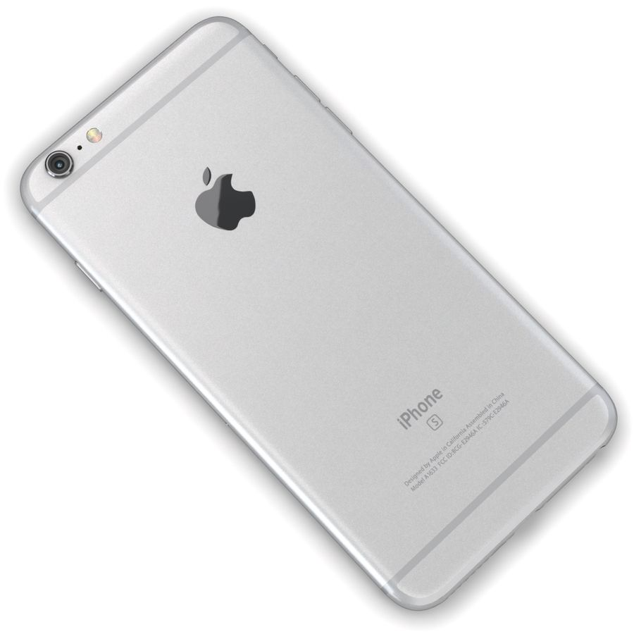 Apple iPhone 6s Plus Prateado royalty-free 3d model - Preview no. 11