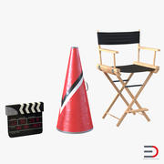 Director Chair and Accessories 3D Models Collection 3d model