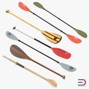 Paddles 3D Models Collection 3d model
