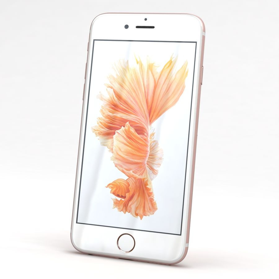 Apple iPhone 6s Rose Gold royalty-free 3d model - Preview no. 3