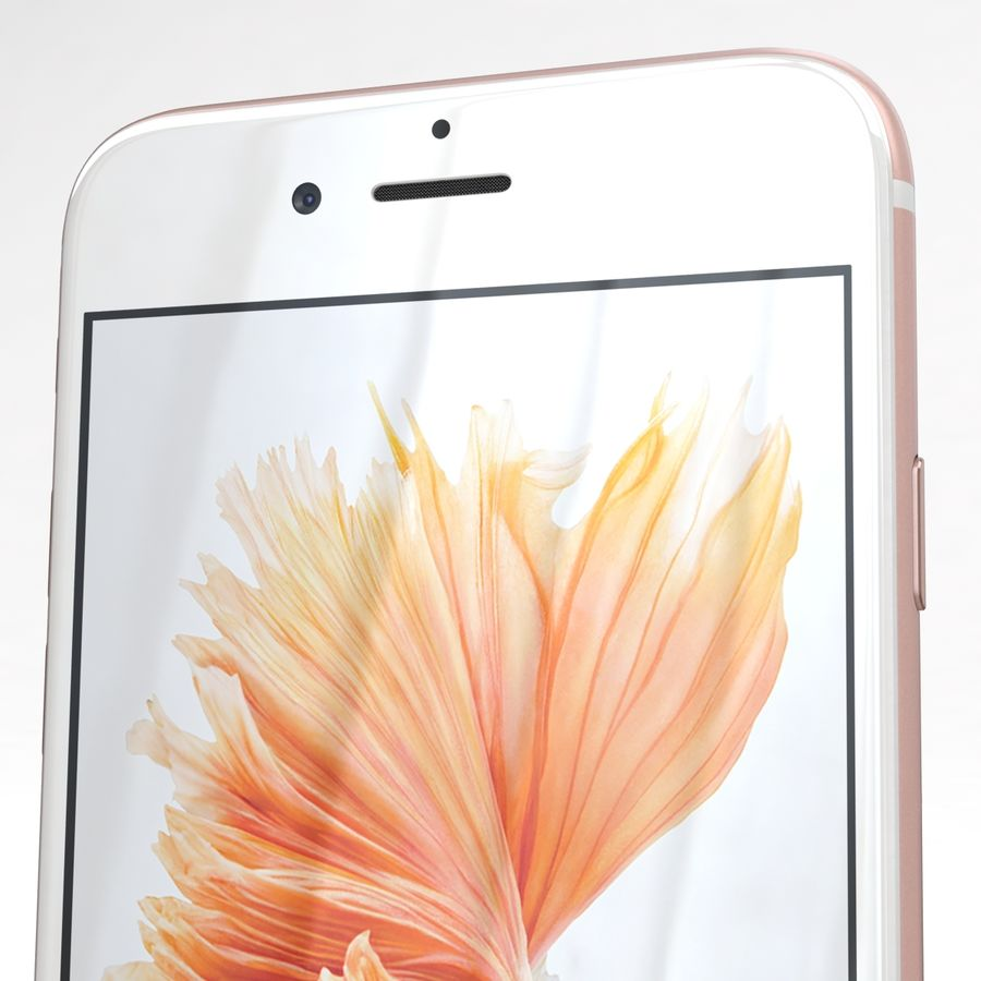 Apple iPhone 6s Rose Gold royalty-free 3d model - Preview no. 25