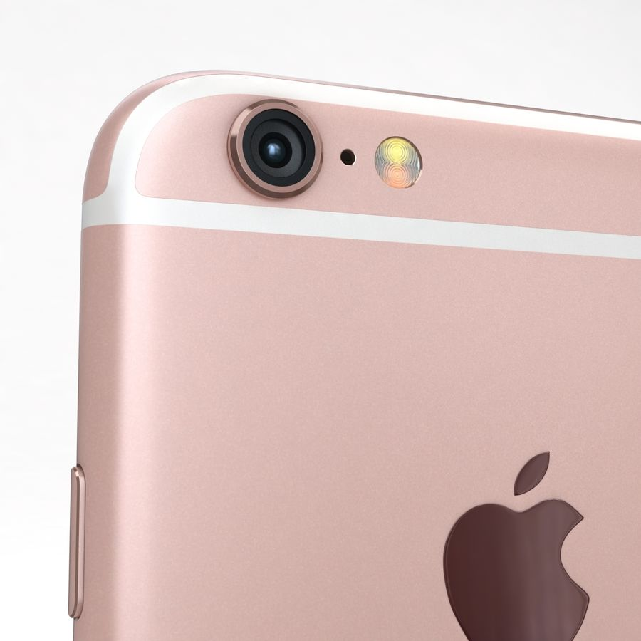 Apple iPhone 6s Rose Gold royalty-free 3d model - Preview no. 20