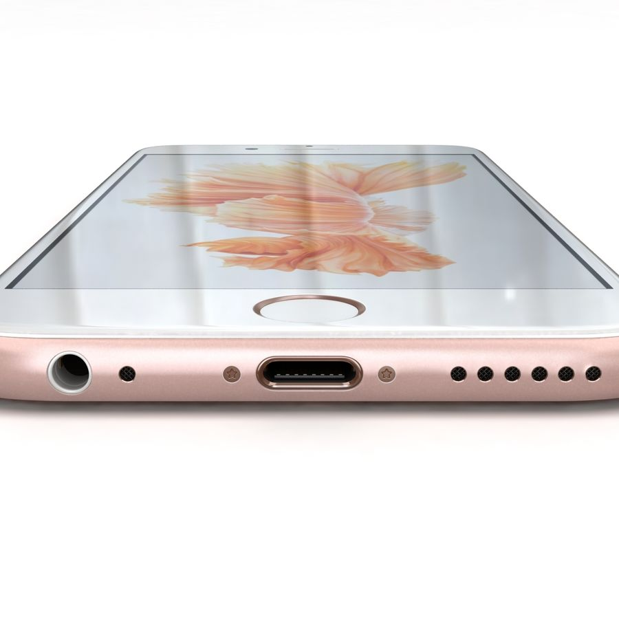 Apple iPhone 6s Rose Gold royalty-free 3d model - Preview no. 16