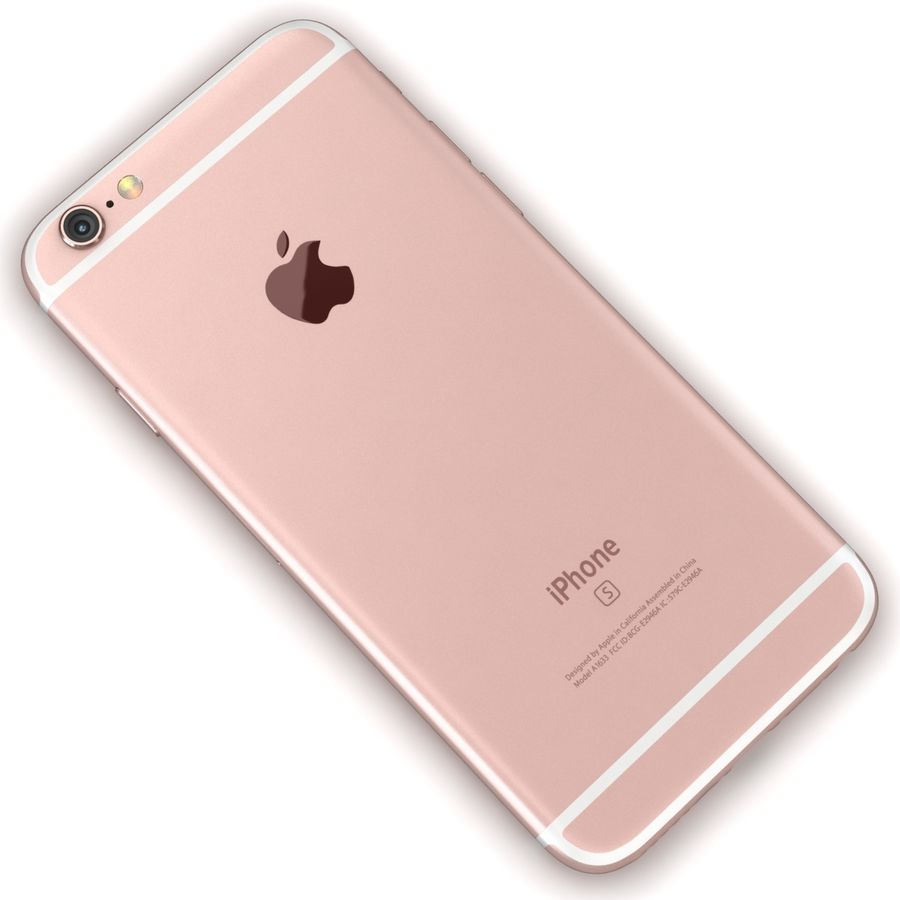 Apple iPhone 6s Rose Gold royalty-free 3d model - Preview no. 11