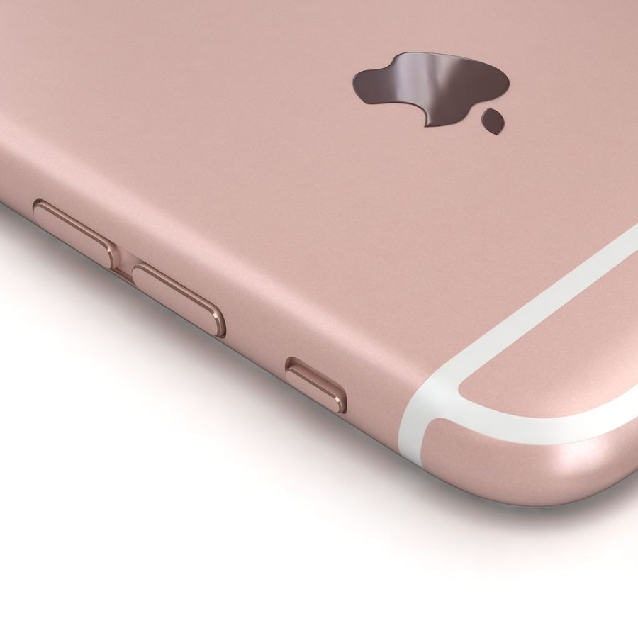 Apple iPhone 6s Rose Gold royalty-free 3d model - Preview no. 15