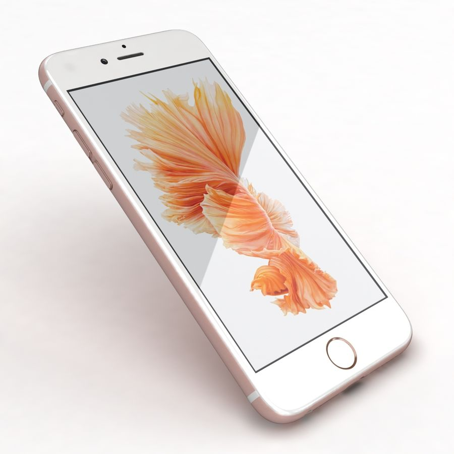 Apple iPhone 6s Rose Gold royalty-free 3d model - Preview no. 21