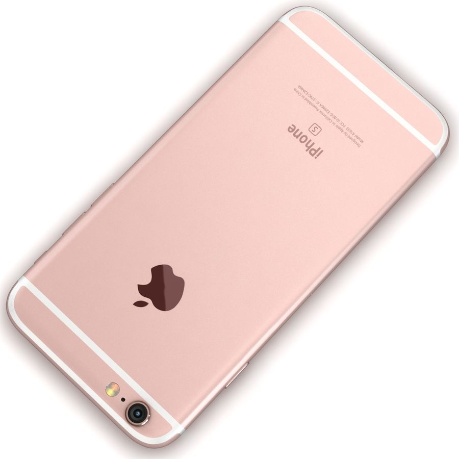 Apple iPhone 6s Rose Gold royalty-free 3d model - Preview no. 12