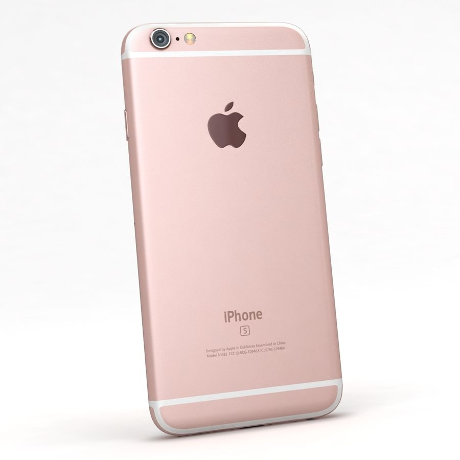 Apple iPhone 6s Rose Gold royalty-free 3d model - Preview no. 6