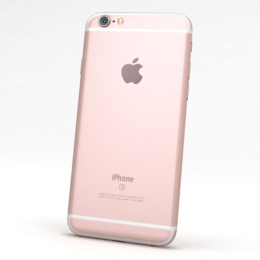 Apple iPhone 6s Rose Gold royalty-free 3d model - Preview no. 5