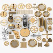 50 Steampunk-onderdelen 3d model