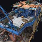 Adereços de barco de pesca 3d model